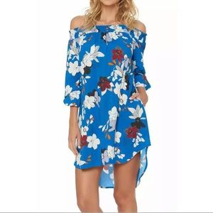 $150 Red Carter floral cover up beach dress S
